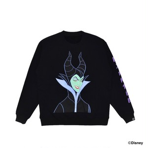 EXAMPLE / MALEFICENT Design CREWNECK / BLACK