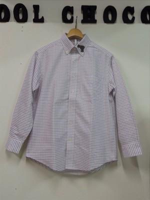 ワッペンチェックシャツ レッド
