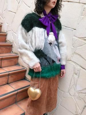【別注】Horse mohair knit tops (  馬 モヘア ニット )