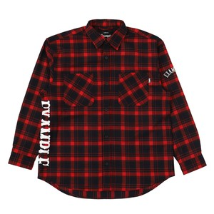 EXAMPLE SIDE LOGO CHECK L/S SHIRT / RED