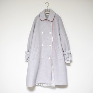 梨凛花 Spill out race coat  light gray×red
