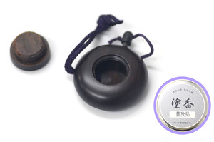 塗香入れ(黒檀)+塗香(極品) セット
