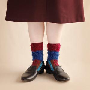 【COQ textile】Tail Sweater・ソックス(ブルー)/ リバーシブル仕様