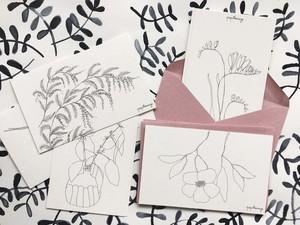 お花のプチカード Petites cartes 8枚セット
