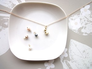 【受注生産】Necklace■animal rabbit 5■mini peaarl choice order