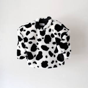 Lactose Intoler-art(ラクトス) 1off fake fur power shoulder top