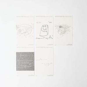 イサムノグチ ドローイングカード5枚セット
