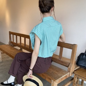 french sleeve stripe shirt