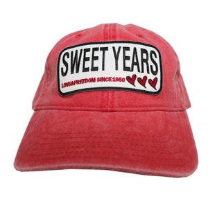 SWEET YEARS(スイートイヤーズ)ベースボールキャップ[ROSSO] レッド キャップ ユニセックス