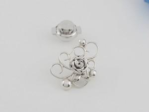 *唐草に薔薇と粒* BR-008-SV