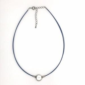 コインパールワイヤー(青)ネックレス