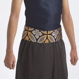 【在庫限り】ワンタッチ帯 金らん 七宝柄 レーヨン 日本製 よさこい衣装 太鼓衣装