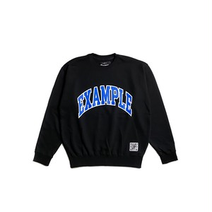 COLLEGE CIRCLE LOGO CREWNECK / BLACK