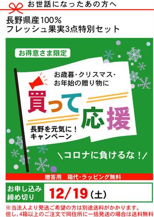 【Bセット】大切な年末の贈り物 厳選ジュレ3本セット(12月19日まで)