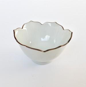 [KR21123] 九谷の白 輪花小鉢