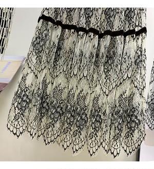 【再入荷】flowerブラックレースフレアスカート