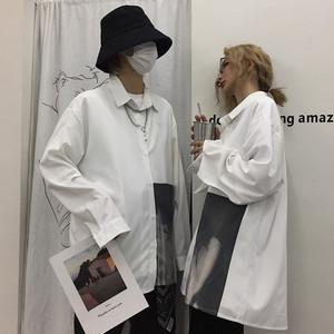 【トップス】「*ユニセック」人気切り替えカジュアルプリントシャツ18122400