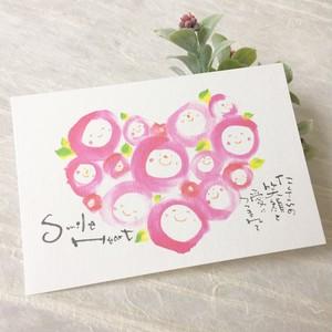 Smile Heart 和紙ハガキ