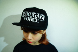 "2020 ""RAKUGAKI FORCE"" Logo Snap Back Cap Black/White"