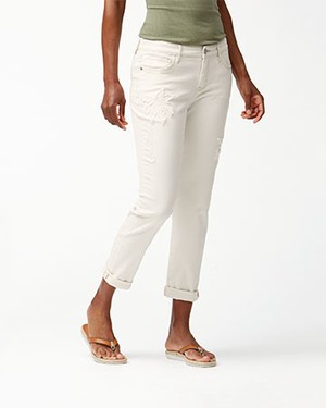 ANA BULL DENIM PALM SLIM BF AF/NATURAL