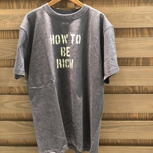 Tシャツearth color HOW TO BE RICH Tシャツ MM-052