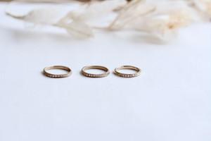 <婚約指輪に>ツイストエタニティリング K18シャンパンゴールド・ホワイトゴールド