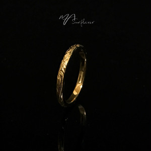 24kgp Hawaiian jewelry ring(細)