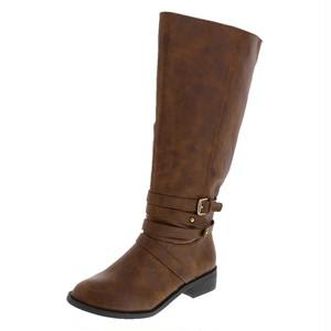 26cm~27.5cm ロングブーツ ブラウン 大きいサイズのブーツ ジョッキーブーツ