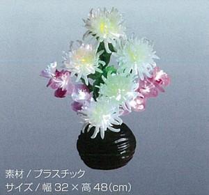 【お盆・お彼岸】ルミナス 白菊と蘭 LED