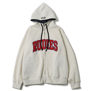 "RUDIE'S / ルーディーズ | "" COLLEGE HIGHNECK ZIP HOOD SWEAT "" - Natural"