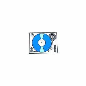 "OTHER WORLD""Record Player / Turntable (Blue) lapel pin"""