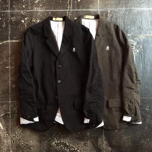 USQ9101 : リネンコットンカルゼパッカリングジャケット