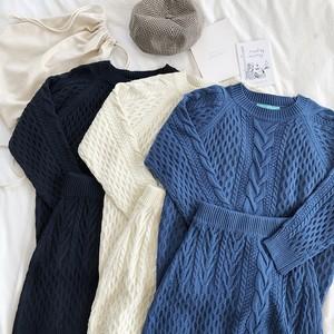 ニットセットアップ ケーブル編み セーター スカート RPSET102002
