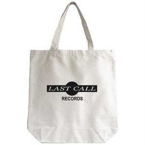 LAST CALL RECORDS トートバッグ(ホワイト) Mサイズ