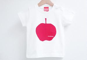 りんごプリントTシャツ ホワイト