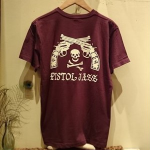 PISTOL JAZZ/BIG LOGO T-shirts BURGANDY