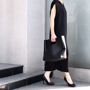 Formal Tuck In Sleeve Dress/BLACK