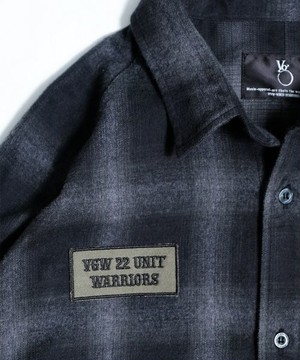 "VIRGOwearworks / ヴァルゴウエアワークス | "" MIDDLE LONG CHECK SHIRTS "" - Black"