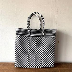 MERCADO BAG|ESPIGA(Black×White) M