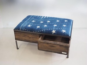 品番UAIW-103  2drawer ottoman[wide/African indigo batik tribal]