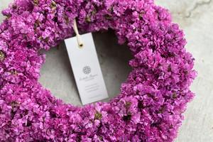 Statice Wreath Pink 04 | スターチスリース