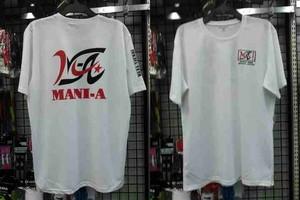 MANI-A(マニア) カスタマイズプラクティスシャツ MANIPRS  ホワイト