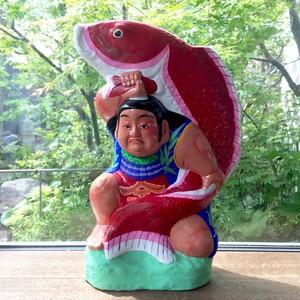 津屋崎人形 鯉金 鯛抱き金太郎 赤鯉