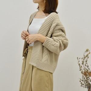 ◆即納◆ケーブル編み ローゲージ ざっくりニットカーディガン NT-03-9