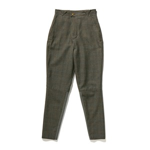 【FILL THE BILL】《WOMENS》WOOL CHECK JOPPERS PANTS - CHACOAL CHECK