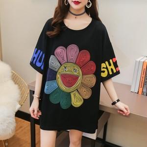 【ランキングNO.1】ラウンドネック笑顔プリント お洒落 カジュアル着やすい Tシャツ <ins-921>