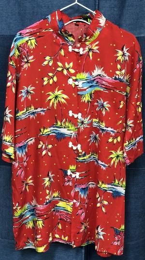 aloha pattern china  shirt