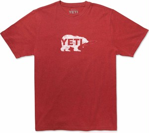 ■YETI  Triblend Salmon on The Fly Tシャツ Brick Red