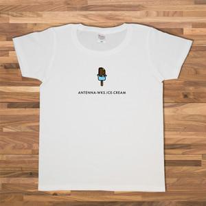 アイスクリーム(ブルー) Tシャツ/ホワイト【CWE-054WH】