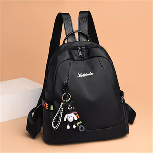【bag】fashion  Women Oxford  Casual solid  color Travel Backpack